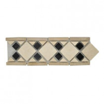 Jeffrey Court Bellagio 4 in. x 12 in. x 8 mm Marble Accent Strip