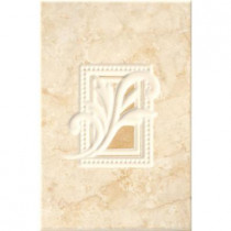 ELIANE Illusione Beige 8 in. x 12 in. Ceramic Insert Wall Tile