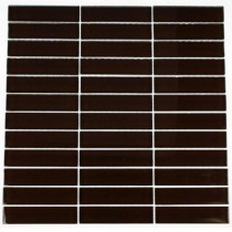 Splashback Tile 12 in. x 12 in. Contempo Mahogany Polished Glass Tile-DISCONTINUED