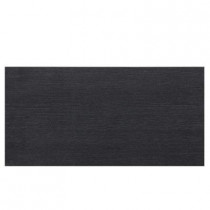 Daltile Identity Twilight Black Grooved 12 in. x 24 in. Porcelain Floor and Wall Tile (11.62 sq. ft. / case)