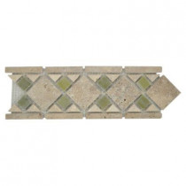 Jeffrey Court Tuscano Travertine 4 in. x 12 in. x 8 mm Mosaic Floor & Wall Accent Strip