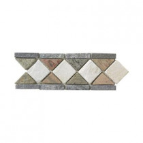 Jeffrey Court Aspen Slate Listello 4 in. x 12 in. x 8 mm Floor and Wall Tile