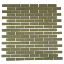 Splashback Tile Contempo Cream 12 in. x 12 in. Glass Mosaic Floor and Wall Tile-DISCONTINUED