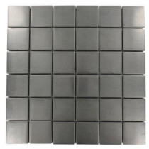 Splashback Tile Stainless Steel 12 in. x 12 in. x 8 mm Mosaic Floor and Wall Tile
