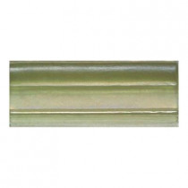 Daltile Cristallo Glass Peridot 3 in. x 8 in. Chair Rail Glass Accent Wall Tile