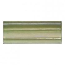 Daltile Cristallo Glass Peridot 3 in. x 8 in. Chair Rail Glass Accent Wall Tile