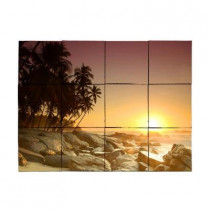 Tile My Style Beach2 24 in. x 18 in. Tumbled Marble Tiles (3 sq. ft. /case)
