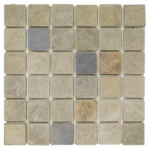 Jeffrey Court Sequoia 12 in. x 12 in. x 8 mm Slate Mosaic Wall Tile