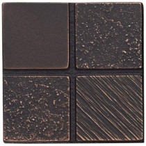 Weybridge 2 in. x 2 in. Cast Metal Mosaic Dot Dark Oil Rubbed Bronze Tile (10 pieces / case) - Discontinued