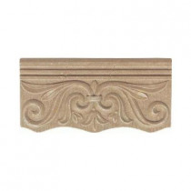 Daltile Fashion Accents Noce 4 in. x 8 in. Ceramic Cornice Wall Tile