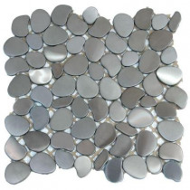 Solistone Metal Freeform Astro 11 in. x 11 in. x 6.35 mm Stainless Steel Mosaic Wall Tile (8.4 sq. ft. / case)