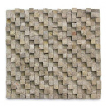 Solistone Cubist DuChamp 12 In. x 12 In. Marble Natural Stone Mosaic Wall Tile (5 sq. ft./Case)