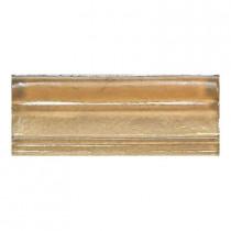 Daltile Daltile Cristallo Glass Smoky Topaz 3 in. x 8 in. Chair Rail Accent Wall Tile