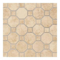 Daltile Salerno Nubi Bianche 12 in. x 12 in. x 6 mm Ceramic Octagon Mosaic Floor and Wall Tile