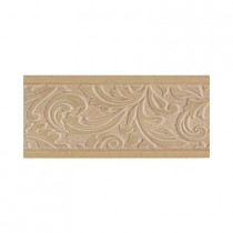 Daltile Brixton Mushroom 4 in. x 9 in. Ceramic Listello Wall Tile