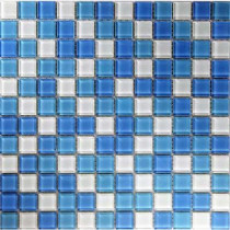 EPOCH Oceanz Atlantic Mosaic Glass Mesh Mounted Tile -3 in. x 3 in. Tile Sample-DISCONTINUED