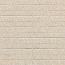 Daltile Identity Bistro Cream Fabric 12 x 12 x 9-1/2 Porcelain Sheet-Mount Mosaic Floor/Wall Tile (9 sq. ft. /case)-DISCONTINUED