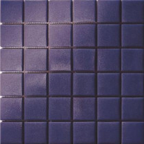 Elementz 12.5 in. x 12.5 in. Capri Blu Grip Glass Tile-DISCONTINUED