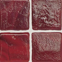 Daltile Sonterra Glass Scarlet 12 in. x 12 in. x 6mm Glass Sheet Mounted Mosaic Wall Tile (10 sq. ft. / case)-DISCONTINUED