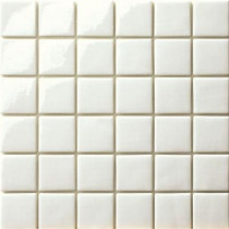 Elementz 12.5 in. x 12.5 in. Capri Bianco Glossy Glass Tile-DISCONTINUED