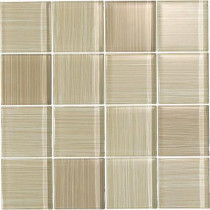 EPOCH Brushstrokes Chiarro-1502-3 Mosaic Glass Mesh Mounted - 4 in. x 4 in. Tile Sample-DISCONTINUED