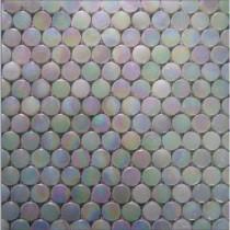 EPOCH Alpinez Aspen-1470 Penny Round Milk Glass 12 in. x 12 in. Mesh Mounted Floor & Wall Tile (5 sq. ft.)