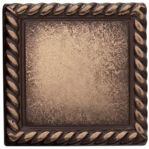 Weybridge 2 in. x 2 in. Cast Metal Rope Dot Classic Bronze Tile (10 pieces / case) - Discontinued