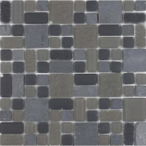 Epoch Architectural Surfaces No Ka 'Oi Haleakala-Hal420 Stone And Glass Blend Mesh Mounted Floor and Wall Tile - 3 in. x 3 in. Tile Sample