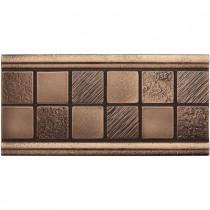 Weybridge 3 in. x 6 in. Cast Metal Mosaic Deco Classic Bronze Tile (10 pieces / case) - Discontinued