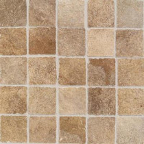 Daltile Portenza Terra di Siena 13-3/4 in. x 13-3/4 in. x 8mm Glazed Porcelain Mosaic Floor and Wall Tile
