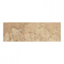 Daltile Canaletto Noce 3 in. x 13 in. Porcelain Bullnose Floor and Wall Tile