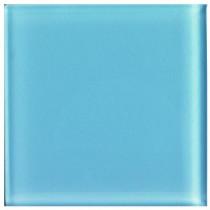 U.S. Ceramic Tile Glass Celeste 4 in. x 4 in. Unglazed Insert Wall Tile