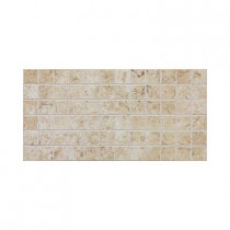 Daltile Fidenza Bianco 12 in. x 24 in. x 8 mm Porcelain Mesh-Mounted Mosaic Floor and Wall Tile (24 sq. ft. / case)
