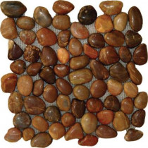 MS International Red Pebbles 12 in. x 12 in. Polished Quartzite Floor and Wall Tile (10 sq. ft. / case)