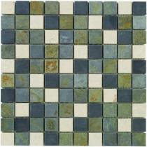 Jeffrey Court Slate Medley 12 in. x12 in. x 8 mm Travertine Slate Mosaic Floor/Wall Tile