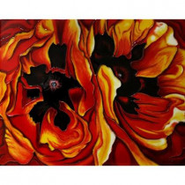 overstockArt O'Keeffe, 11 in. x 14 in. Oriental Poppies Wall Tile-DISCONTINUED