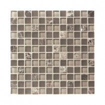 Jeffrey Court Auburn Emperador 12 in. x 12 in. x 8 mm Glass Marble Mosaic Floor/Wall Tile