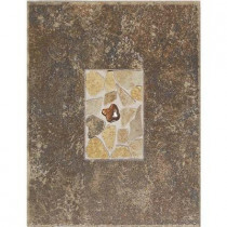 Daltile Castle De Verre Regal Rouge 10 in. x 13 in. Porcelain Decorative Floor and Wall Tile-DISCONTINUED