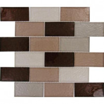 MS International Ayres Blend Subway 12 in. x 12 in. x 8 mm Glass Mesh-Mounted Mosaic Tile
