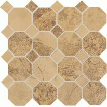 Daltile Aspen Lodge Golden Ridge 12 in. x 12 in. x 6 mm Porcelain Octagon Mosaic Floor and Wall Tile (7.74 sq. ft. / case)
