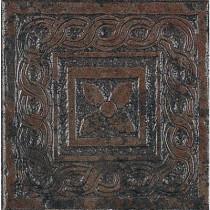U.S. Ceramic Tile Craterlake Lava 6 in. x 6 in. Glazed Porcelain Insert Corner Floor & Wall Tile-DISCONTINUED