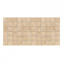 Daltile Salerno Nubi Bianche 12 in. x 24 in. x 6 mm Ceramic Mosaic Floor and Wall Tile