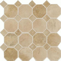 Daltile Aspen Lodge Morning Breeze 12 in.x12 in.x6mm Porcelain Octagon Mosaic Floor and WallTile(7.74 sq. ft./case)-DISCONTINUED