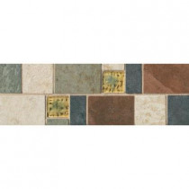 Daltile Continental Slate 4 in. x 12 in. x 6 mm Porcelain Decorative Accent Mosaic Floor and Wall Tile