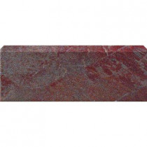 U.S. Ceramic Tile Stratford Copper 3 in. x 12 in. Glazed Ceramic Single Bullnose Floor & Wall Tile-DISCONTINUED