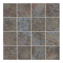 Daltile Continental Slate Tuscan Blue 12 in. x 24 in. x 6mm Porcelain Mosaic Floor and Wall Tile-DISCONTINUED