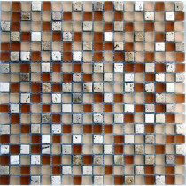 Epoch Architectural Surfaces Desertz Rangipo-1422 Stone And Glass Blend Mesh Mounted Floor and Wall Tile - 3 in. x 3 in. Tile Sample