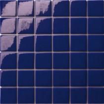 Elementz 12.5 in. x 12.5 in. Capri Blu Glossy Glass Tile-DISCONTINUED
