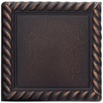 Weybridge 2 in. x 2 in. Cast Metal Rope Dot Dark Oil Rubbed Bronze Tile (10 pieces / case) - Discontinued