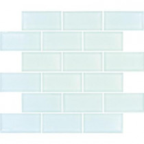 MS International Arctic Ice Subway 12 in. x 12 in. x 8 mm Glass Mesh-Mounted Mosaic Tile